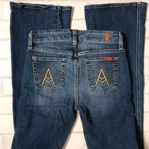 7 Seven for All Mankind A Pocket 25 Flare hi rise